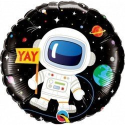 Globo Astronauto Espacio Happy Birthday