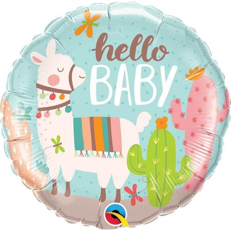 Globo Hello Baby Llama de 45 cm aprox