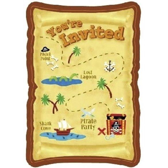 Invitaciones (8)Fiesta Pirata