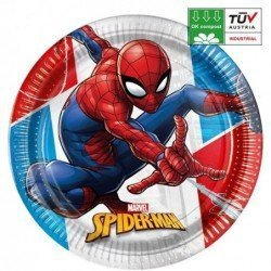 Platos Spiderman Eco biodegradables de 23cm (8)