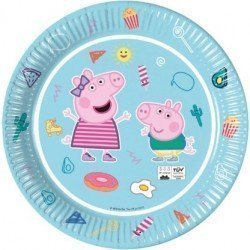 Platos Peppa Pig play Eco biodegradables de 23 cm (8)