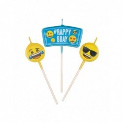 Mini velas Emoji Happy Birthday topper (3)