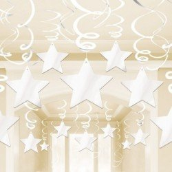Decoracion Colgantes Espirales Estrella Color Blanco (30)