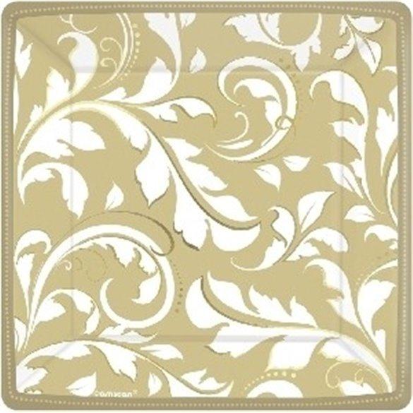 ✅PLATOS (8) 17,4 cm Bodas de Oro 50 aniversario por solo 3,09€ en Masfiesta.es. Venta de Artículos de fiesta y decoración