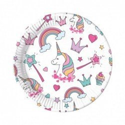 Platos Unicornio Magic Party de 23cm (8)