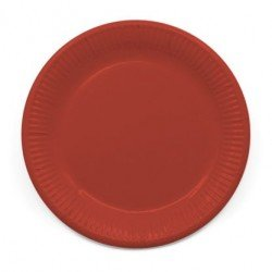 Platos de color Rojo de 23 cm EcoFriendly Compostable (8)