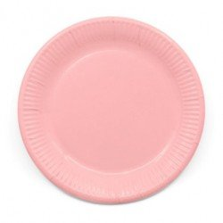 Platos de color Rosa de 23 cm EcoFriendly Compostable (8)
