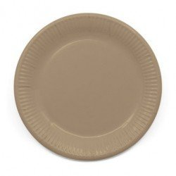 Platos de color Crema de 23 cm EcoFriendly Compostable (8)