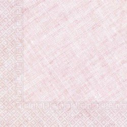 Servilletas grandes color Rosa de Triple Capa tacto textil Ecofriendly compostables (20)