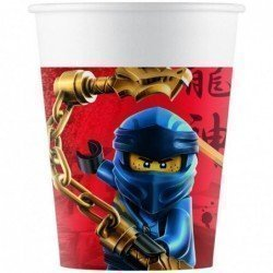 Vasos Lego Ninjago de Carton de 200 ml (8) Eco-Friendly