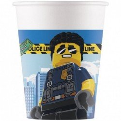 Vasos Lego City de Carton de 200 ml (8) Eco-Friendly