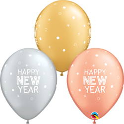 Globos látex Happy New Year de 27cm (6)