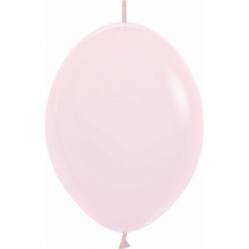 Globos (LOLR12) de 30cm aprx Esp. Arcos y Torres Color Rosa Pastel Talco (25 ud)