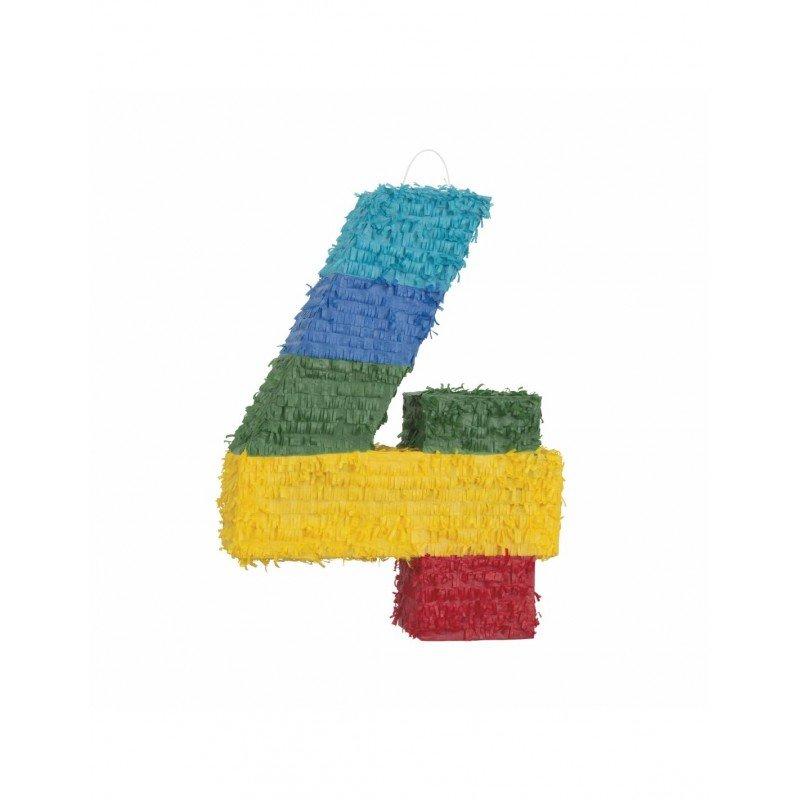 Piñata Número 4 en 3D