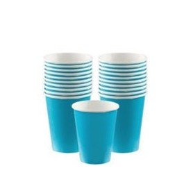 VASO 9oz 266 ml CARTON COLOR AZUL-CARIBE ( 8 ud)