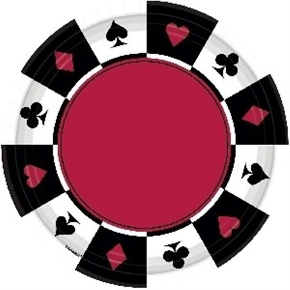 ✅Platos Casino (8) Carton 26,7 cm por solo 4,01€ en Masfiesta.es. Venta de Artículos de fiesta y decoración