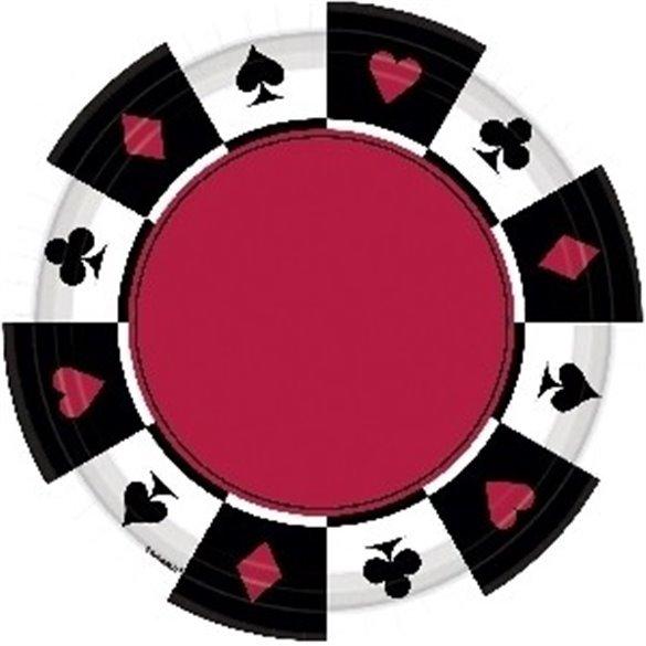Platos Casino (8) Carton 26,7 cm