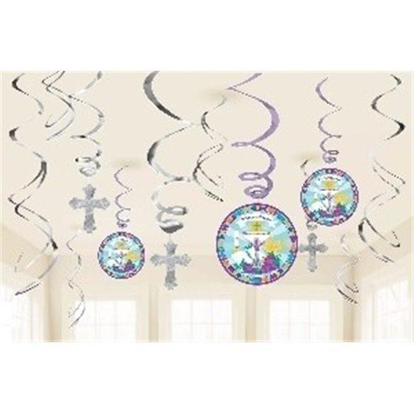 ✅Decorados Espirales Comunión/Bautizo por solo 4,49€ en Masfiesta.es. Venta de Artículos de fiesta y decoración