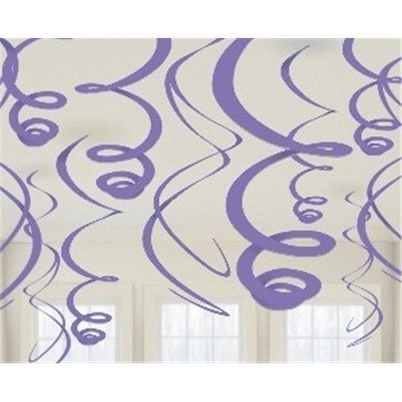 ✅Decoracion Colgantes Espirales de Color Morado (12 de 55,8 cm) por solo 2,69€ en Masfiesta.es. Venta de Artículos de fiesta...