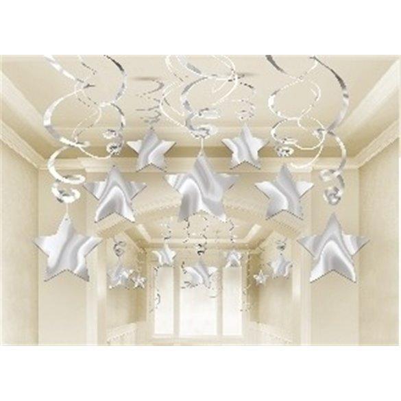 ✅Decoracion Colgantes Espirales Estrella Color Plata (30) por solo 8,95€ en Masfiesta.es. Venta de Artículos de fiesta y dec...