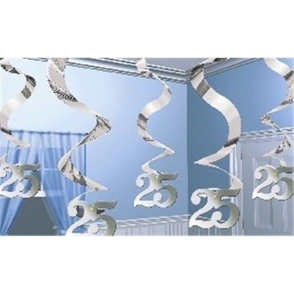 Decoracion Colgante (5) Bodas de plata 25 aniversario