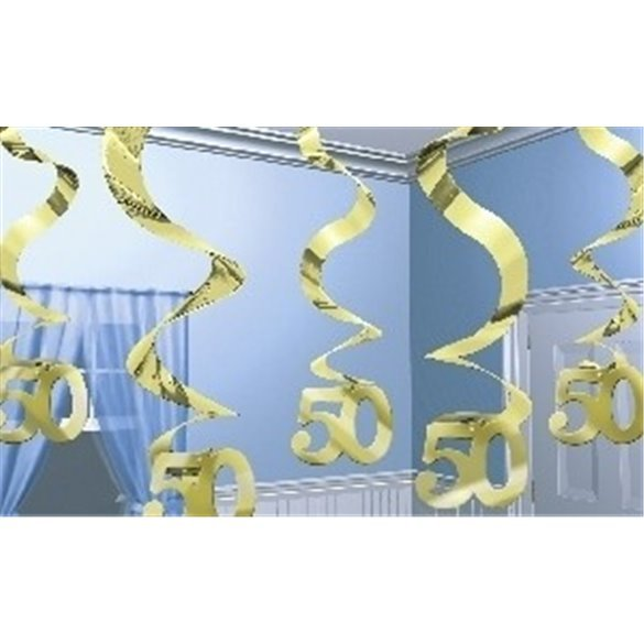 Decoracion Colgante (5) Bodas de Oro 50 aniversario