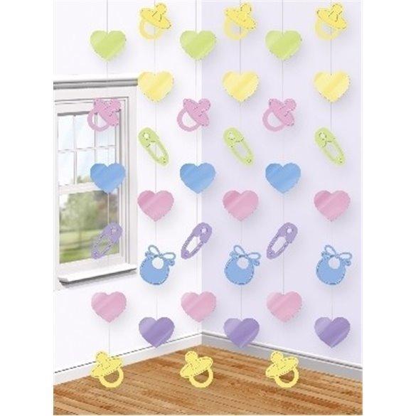 ✅Decoracion Colgante (6) Baby Shower por solo 3,85€ en Masfiesta.es. Venta de Artículos de fiesta y decoración
