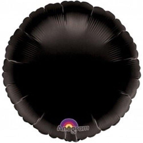 ✅Globo Con Forma de Circulo de Aprox 45cm Color NEGRO- por solo 1,42€ en Masfiesta.es. Venta de Artículos de fiesta y decora...