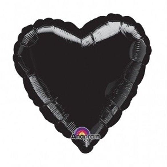 ✅Globo Con Forma de Corazón de Aprox 45cm Color NEGRO por solo 1,42€ en Masfiesta.es. Venta de Artículos de fiesta y decoración
