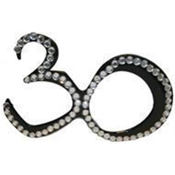 ✅GAFAS 30 CUMPLEAÑOS diamantes negras por solo 4,01€ en Masfiesta.es. Venta de Artículos de fiesta y decoración