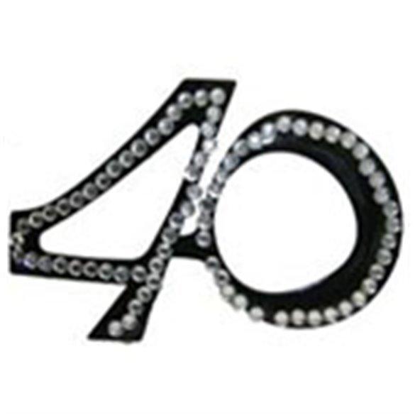 ✅GAFAS 40 CUMPLEAÑOS diamantes negras por solo 4,23€ en Masfiesta.es. Venta de Artículos de fiesta y decoración