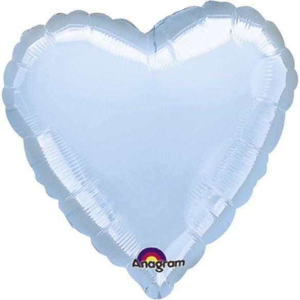 ✅Globo Con Forma de Corazón de Aprox 45cm Color AZUL PASTEL por solo 1,25€ en Masfiesta.es. Venta de Artículos de fiesta y d...