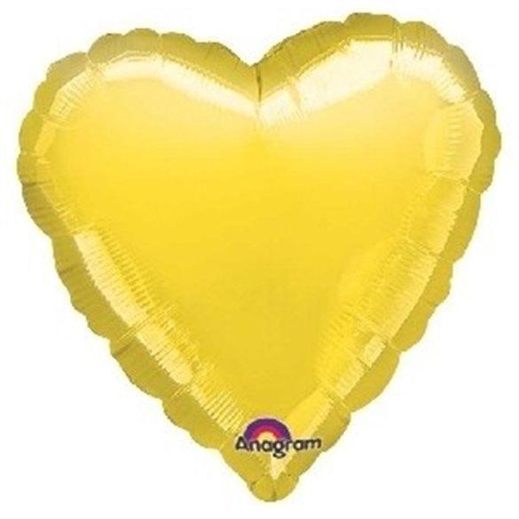 ✅Globo Con Forma de Corazón de Aprox 45cm Color AMARILLO- por solo 1,42€ en Masfiesta.es. Venta de Artículos de fiesta y dec...