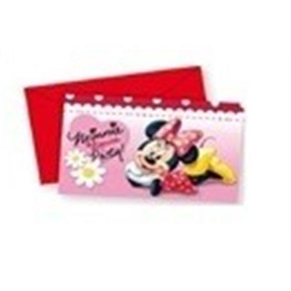 Invitaciones (6) Minnie (incluye sobre)