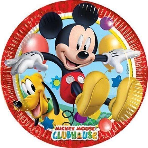 ✅Platos (8) de 23cm Club disney Mickey por solo 2,61€ en Masfiesta.es. Venta de Artículos de fiesta y decoración
