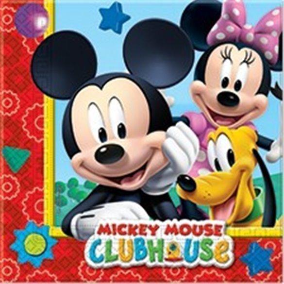 ✅Servilletas (20) 33x33cm Club Disney Mickey por solo 2,47€ en Masfiesta.es. Venta de Artículos de fiesta y decoración