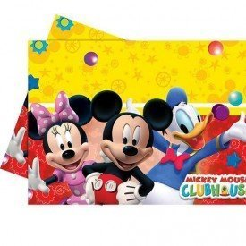 Mantel Plástico 120x180cm Club disney Mickey