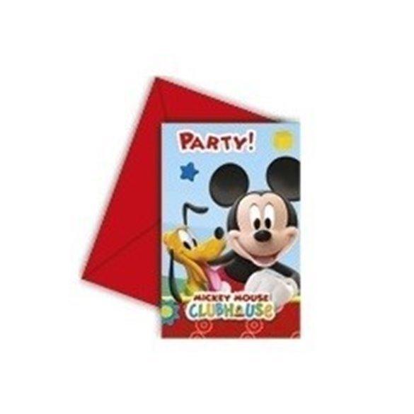 ✅Invitaciones (6) Club disney Mickey (incluye sobre) por solo 2,70€ en Masfiesta.es. Venta de Artículos de fiesta y decoración