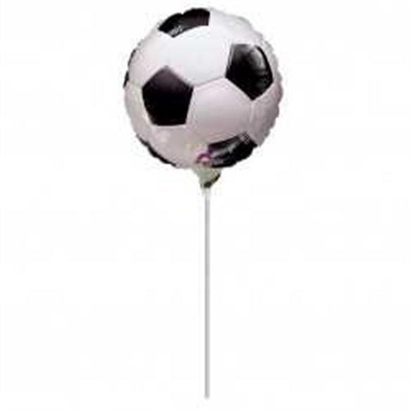 Globo Foil Redondo Con palito (23 cm) Futbol