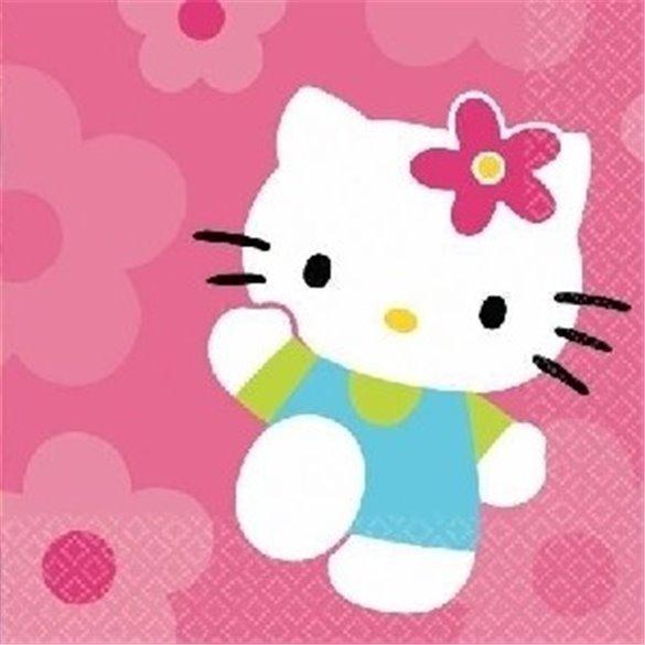 ✅Servilletas Hello Kitty 33x33 (16) por solo 3,74€ en Masfiesta.es. Venta de Artículos de fiesta y decoración