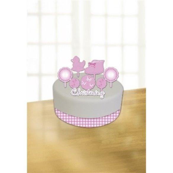 ✅Pink (3)Booties Cake Decorating K Incl. Ribbon, Candle andCard Decoration por solo 2,69€ en Masfiesta.es. Venta de Artículo...
