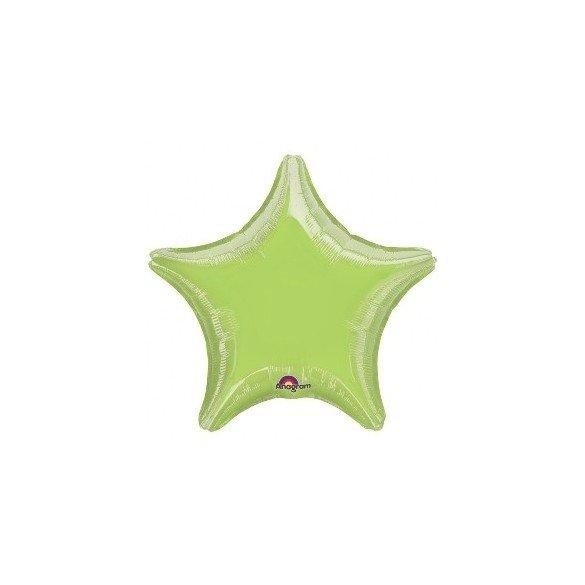 ✅Globo con palo de 10 cm aprox Forma ESTRELLA KIWI por solo 1,28€ en Masfiesta.es. Venta de Artículos de fiesta y decoración