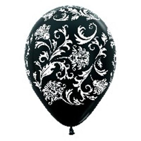 ✅Globos Seri. Dis. Damasco De 30 cm aprox Colores Negro/Blanco Satin y Met /10 ud/ por solo 3,10€ en Masfiesta.es. Venta de ...