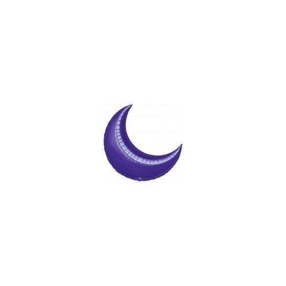 ✅Globo Forma Luna de 89 cm Aprox. Color MORADO por solo 4,45€ en Masfiesta.es. Venta de Artículos de fiesta y decoración