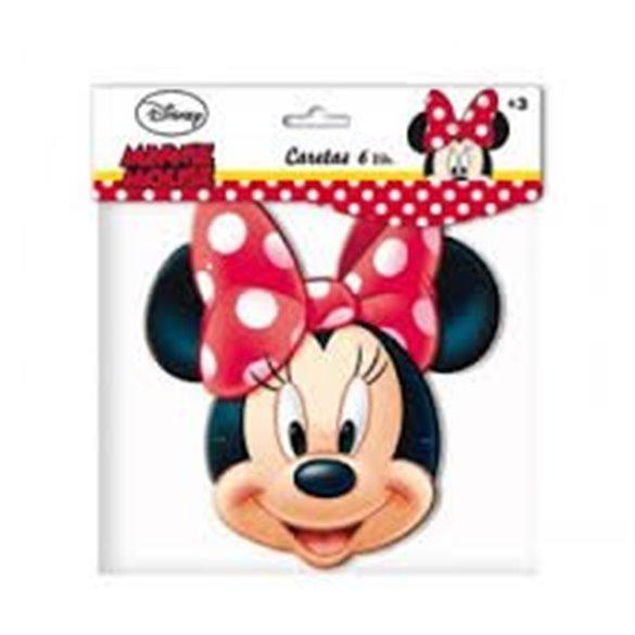 ✅Mascaras (6) Minnie por solo 2,38€ en Masfiesta.es. Venta de Artículos de fiesta y decoración