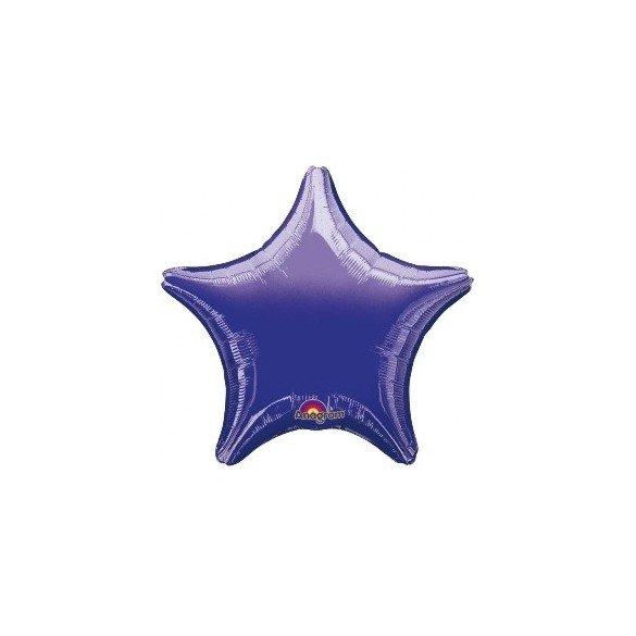 Globo con palo de 10 cm aprox Forma ESTRELLA MORADO