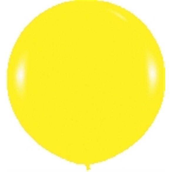 Globos (R-36)  de 90 cm aprox Color Amarillo Solido (10 ud)