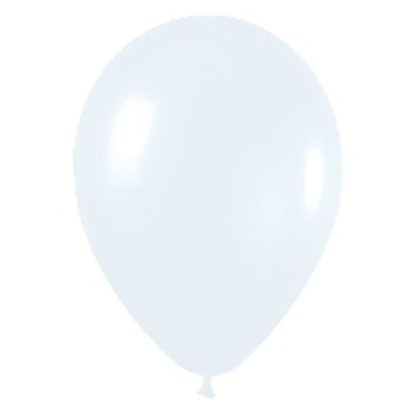 Globos (R-5) de 13 cm aprox Color Blanco Solido (100 ud)