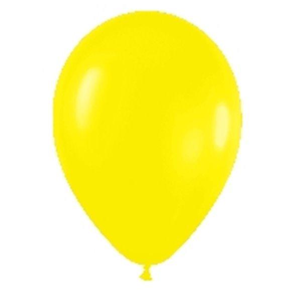 ✅Globos (R-5) de 13 cm aprox Color Amarillo Solido (100 ud) por solo 4,28€ en Masfiesta.es. Venta de Artículos de fiesta y d...