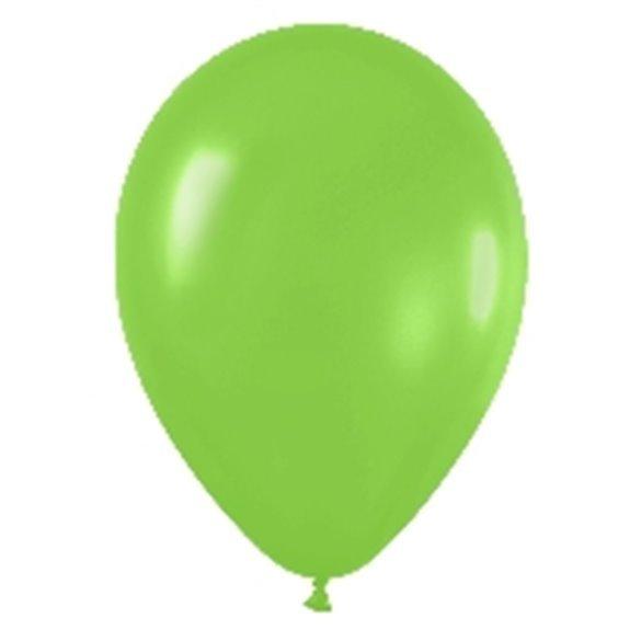 ✅Globos (R-5) de 13 cm aprox Color Verde Lima Solido (100 ud) por solo 4,28€ en Masfiesta.es. Venta de Artículos de fiesta y...